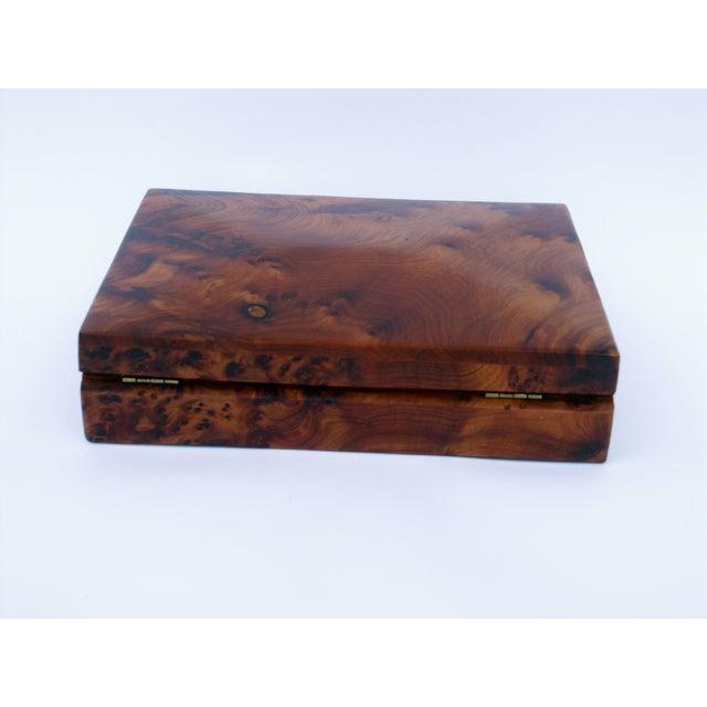 Decorative Juniper Burl Wood Box - Image 8 of 8