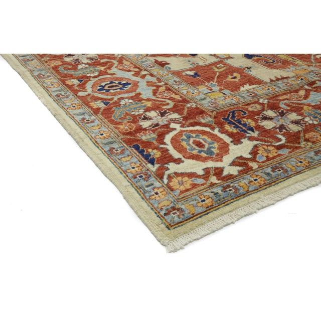 Contemporary Traditional Red Hand-Knotted Rug 9' X 12' - Image 2 of 3