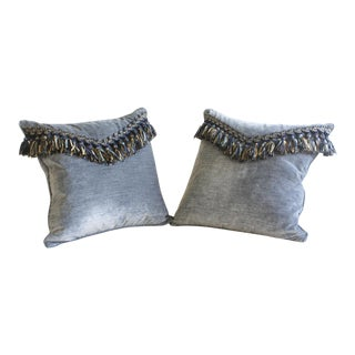 Pair of Velvet Tassel Throw Pillows