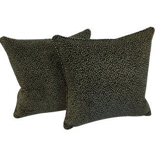 Colefax & Fowler Velvet Cheetah Pillows - A Pair