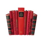 Image of Red & Black Decorative Books - Set of 9