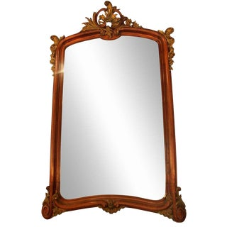 Carved French Wall Mirror