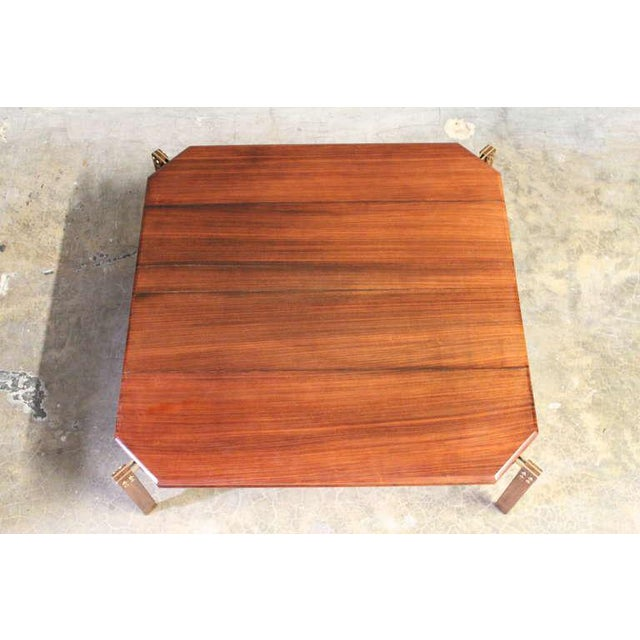 Rosewood and Brass Coffee Table - Image 3 of 10