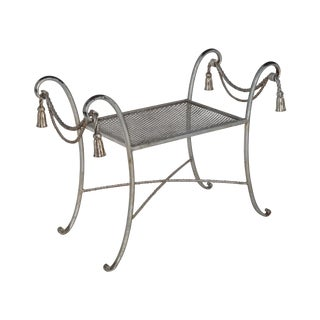 Regency Style Metal Bench