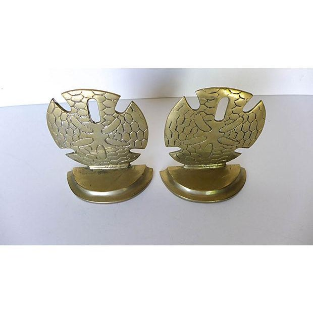 Brass Seaside Sand Dollar Bookends - A Pair - Image 3 of 7
