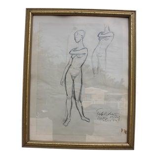 1959 Peter Keil Studio Miro Palma Drawing