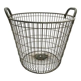 Vintage Belgian Metal Potato Basket