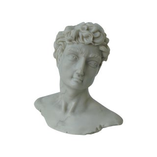 Vintage Cast Resin Accent Statue of David
