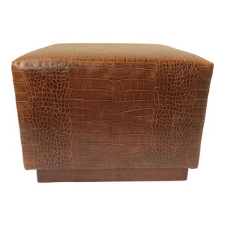 Ralph Lauren Home Modern Hollywood Embossed Leather Ottoman