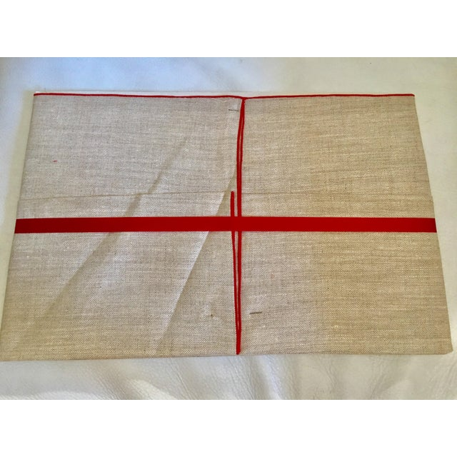 Vintage Game Table Size Tablecloth & Napkins - Set of 5 - Image 5 of 6