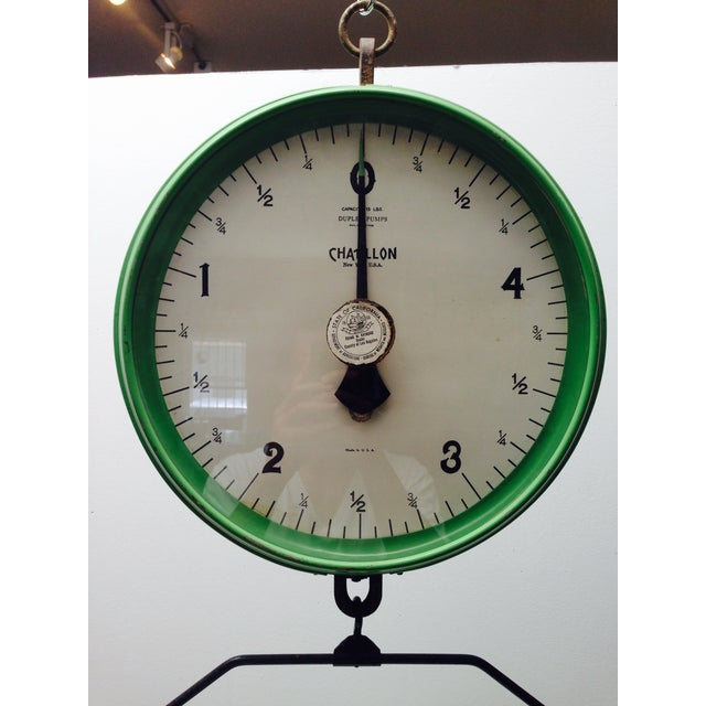 Amazing Vintage Chatillon Green Hanging Scale - Image 4 of 5