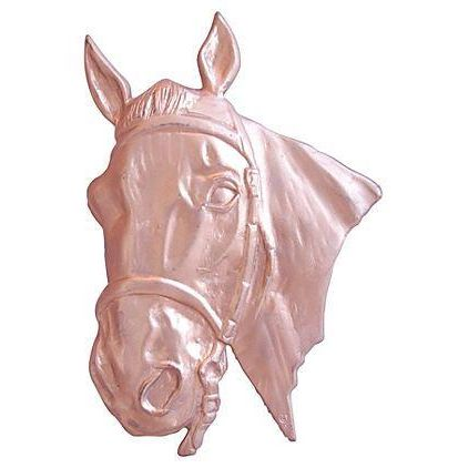 Mid-Century 1950s Brass Horse Relief Plaque - Image 1 of 4