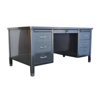 1940's ArtMetal Polished Steel Desk