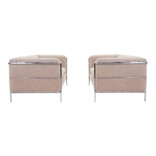 Pair of Le Corbusier Style Settee or Loveseats by Jack Cartwright