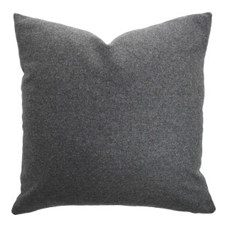 Italian Gray Sustainable Wool Pillow