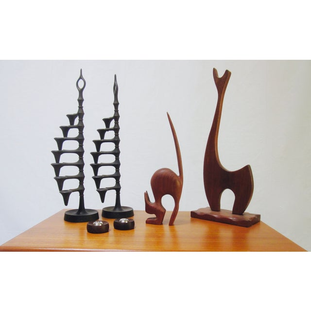 Danish Modern Nissen Candle Holders - A Pair - Image 5 of 9