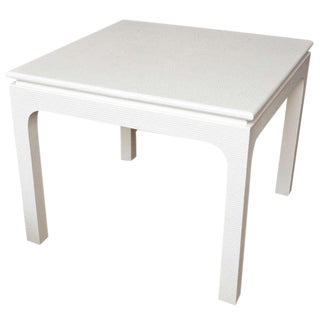 Harrison-Van Horn Textural Square White Lacquered Game / Card Table