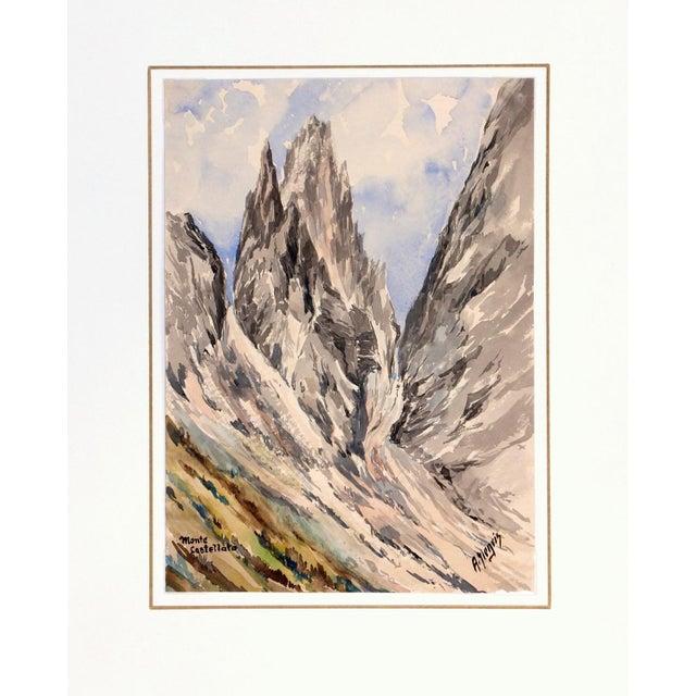 Mid-Century 1958 Monte Castelleto Italy Painting - Image 4 of 4
