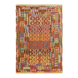 "Kilim Arya Nathania Red/Green Wool Rug - 6'6"" X 9'8"""