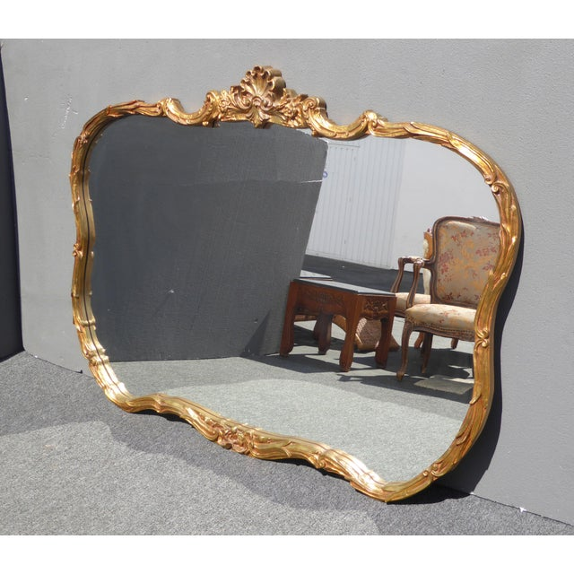 Vintage French Louis XVI Style Wall Mirror - Image 4 of 11