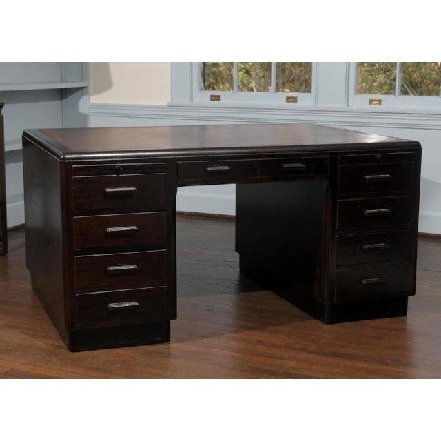 Art Deco Pedestal Desk - Image 2 of 7