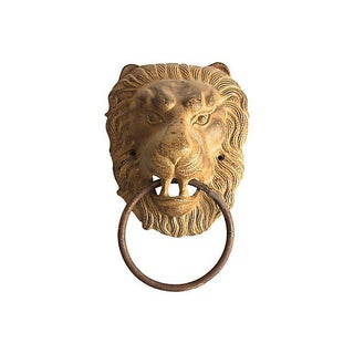 Collossal Lions Head Bronze Door Knocker