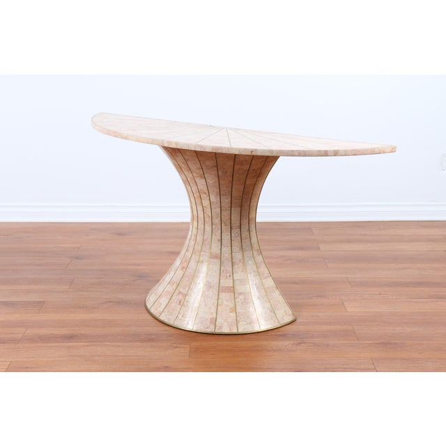 Maitland-Smith Tessellated Marble Console Table - Image 5 of 5
