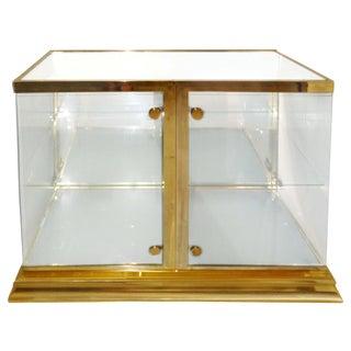 Mastercraft Mirrored Top Brass Display Cabinet