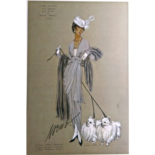 Image of Irene & Virginia Fisher Two Pomeranians Lithograph