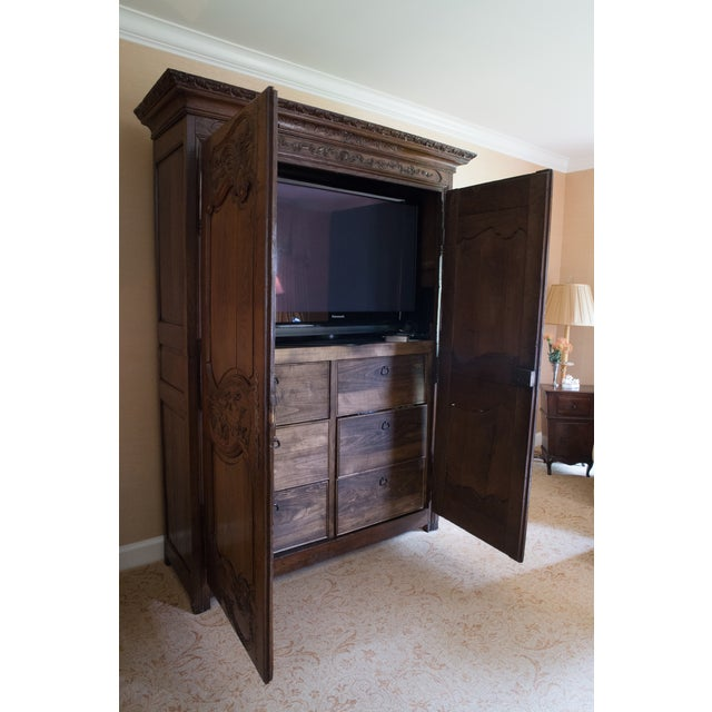 French Oak Armoire from Normandy - Image 4 of 10