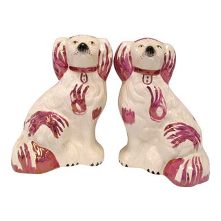 Antique Staffordshire Dogs - A Pair