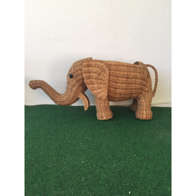 Wicker Elephant Planter - Image 9 of 9