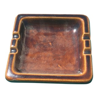 Mid Century Brown Ashtray