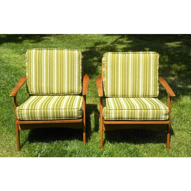 Vintage Mid Century Lounge Chairs - A Pair - Image 3 of 7