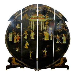 Chinese Round Lacquer Room Divider