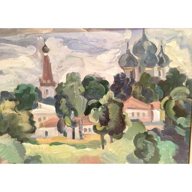 Original Oil on Burlap Landscape Painting - Image 4 of 10