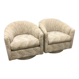 Milo Baughman Style Tub Chairs - A Pair