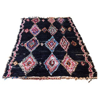 Handmade Moroccan Boucherouite Rug - 4′1″ × 7′