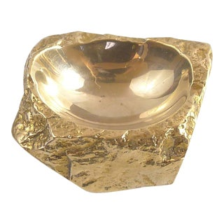 French Bronze Gold Nugget Bowl