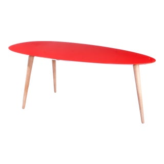 Large Red Egg Table