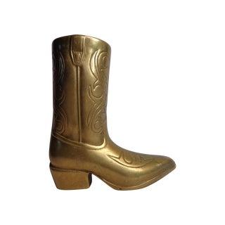 Brass Cowboy Boot
