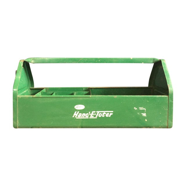 Rustic Green Tool Caddy - Image 1 of 4