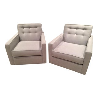 Edward Ferrel Swivel Lounge Chair Set - Pair