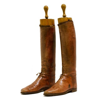 Antique French Polo Boots - A Pair