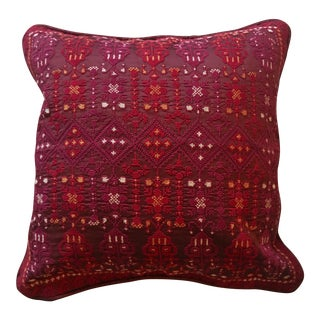 Palestinian Embroidered Silk Pillowcase