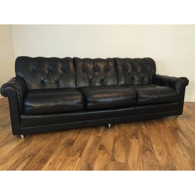 Vintage Leather Sofa By Leathercraft Chairish