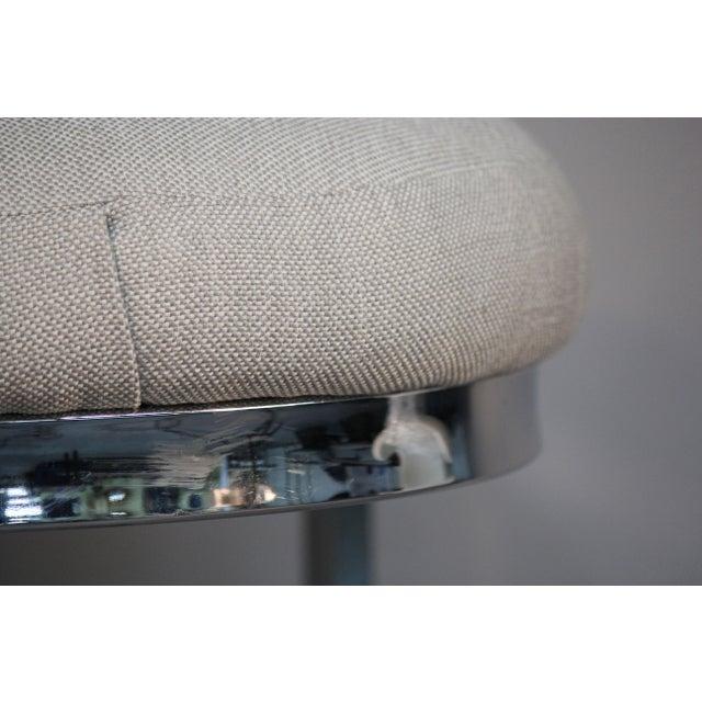 Chrome Cantilever Bar Stools - Set of 3 - Image 8 of 10