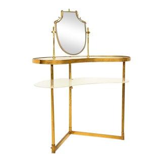 Mid Century Modern Italian Brass Adjustable Vanity