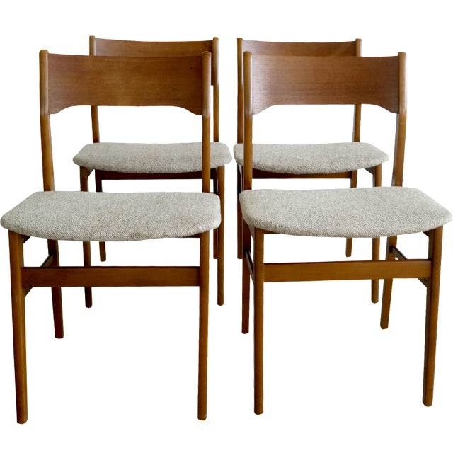 Danish Modern Dining Chairs - Set of 4 - Image 1 of 8