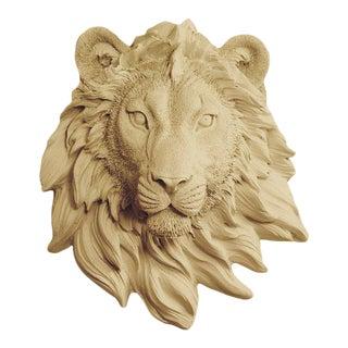 Wall Charmers Khaki Faux Taxidermy Lion Head Mount